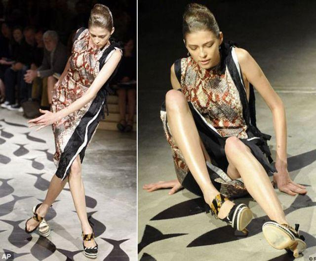 Model Catwalk Models Falling Off of Catwalks